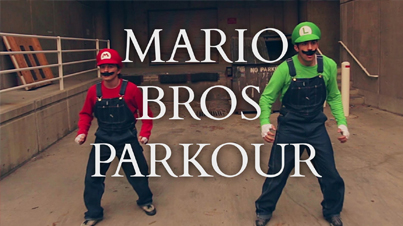 The Real Life Super Mario Brothers Do Parkour