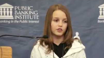 12-Year Old Exposes the Immorality of the Global Banking System