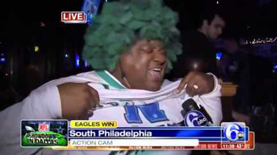 Fan Boy Clip Of The Day: Eagles Fan is Really Excited the Eagles Beat the Cowboys