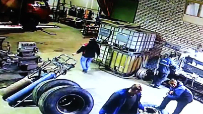 WTF Clip Of The Day: Mechanic Meets Tire From Hell