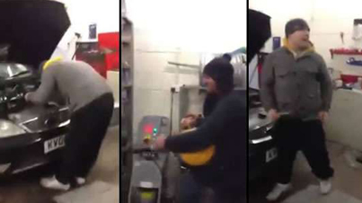 LOL: Compressed Air Prank