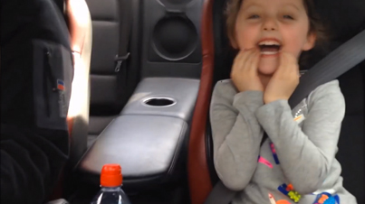 Little Girl's Reaction To Dad Speeding In Nissan GT-R Is Priceless