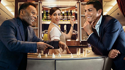 When 2 Football Greats Meet: Cristiano Ronaldo and Pelé Star Together in New Emirates Advert
