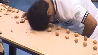 Smashes The World Record: This Man Has Just Set A New Record For Crushing Walnuts With His Head