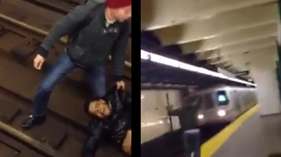 Caught on Film: Man Trying To Commit Suicide Get's Run Over By NYC Subway And Survives