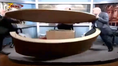 Pure Chaos: Epic Table Fight Breaks Out On Live TV