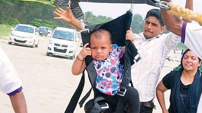 Worst Mother Ever: Indian Parents Make 11-Month-Old Crying Baby Paraglide Alone