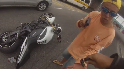 Street Justice: Motorcycle Thief Shot During Robbery