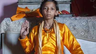 The Reincarnation of Lord Hanuman: Little Boy With A Tail From India Is Worshipped As A God