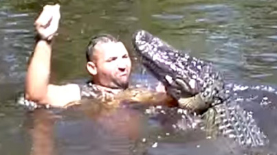 No F*cks Given: Man Feeds Wild Alligators Marshmallows With His Mouth
