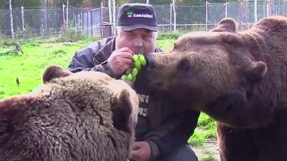 The Bear Man Of Finland Has An Unbreakable Bond With Brown Bears And Even Shares His Food With Them