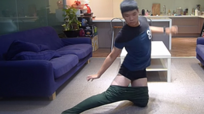This Guy Is A Genius: Dude Shows You How To Put On Pants Without Using Your Hands