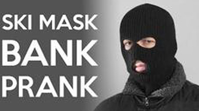 Trying To Open A Bank Account While Wearing A Ski Mask Prank