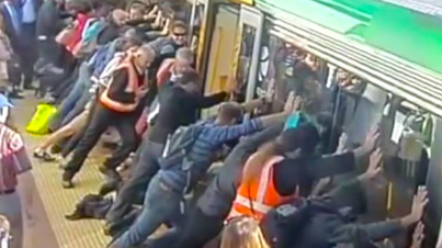 The Power Of The People: Commuters Come Together To Free A Mans Leg From Under A Train
