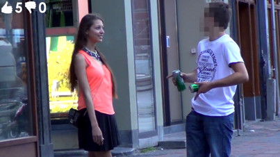 Cute Chick Pranks Guys On The Street By Asking If They Want To Have Sex With Her