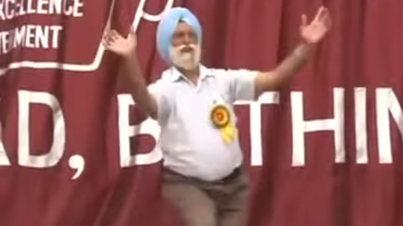 Bhangra Clip of The Week: Old Indian Dude Couldn't Resist. Goes In With The Dance Moves!