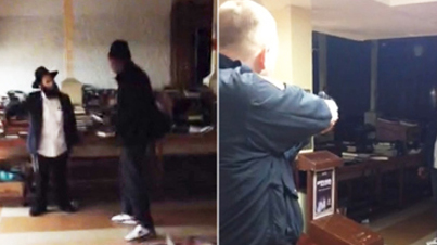 I Want To Kill Jews: Police Shoot A Crazy Man With A Knife Inside A Synagogue (Raw Footage)