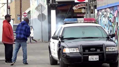 Two Officers Of The Law Roll Around Hot Boxing Their Car (Prank)
