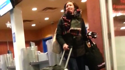 Crazy Chick Freaks The F*ck Out And Screams At The Top Of Her Lungs After Missing Ferry