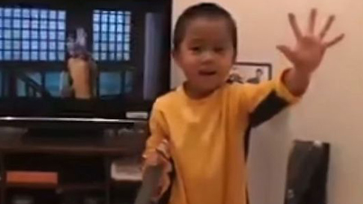 Serious Skills: Four-Year-Old Kid Pulls Off A Killer Bruce Lee Impression