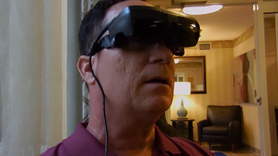 Amazing: Legally Blind Man Sees For The First Time In 20 Years Using Ground Breaking Electronic Glasses