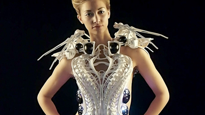 Fashion Of The Future: This 3D Printed 'Spider Dress' Will Defend Your Personal Space