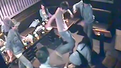 Raw Footage: Violent Thugs Badly Beat Up Young Couple At A Karaoke Bar