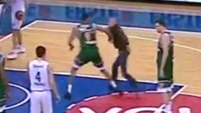 Get Em: World's Best Teammate Knocks Out Fan Who Ran Onto Court To Attack Player
