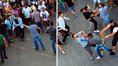 Held Their Own: 10 Dudes Trying To Fight 2 Indian Guys In Calgary Give Worst Fight Performance