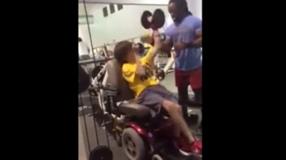 Set Mind To Purpose: Disabled Teen In Wheelchair Is Focused On His Workout