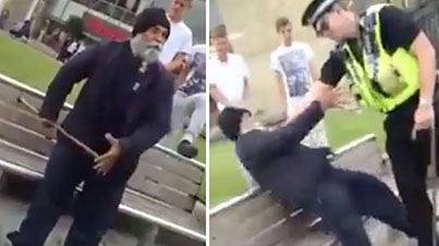 Leave Me Alone, We Rep The Punjab: Rowdy Old Man Punches A Police Officer In The Nuts
