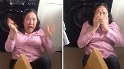 Hilarious Reaction: Son Surprises His Mother Who Hasn't Seen Him In 2 Years
