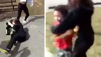 Video -Girl And Her Little Brother Brutally Attacked In Park