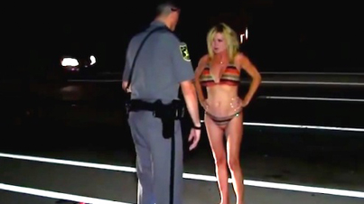 Drunk 49-Year-Old Grandma Wearing A Bikini Totals Her BMW With Her Grandson In The Car