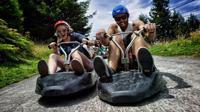 Mario Kart In Real Life: High Speed Street Luge In Rotorua, New Zealand