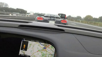 Meanwhile On The German Autobahn: Porsche 918 Spyder Chases A Koenigsegg Agera R