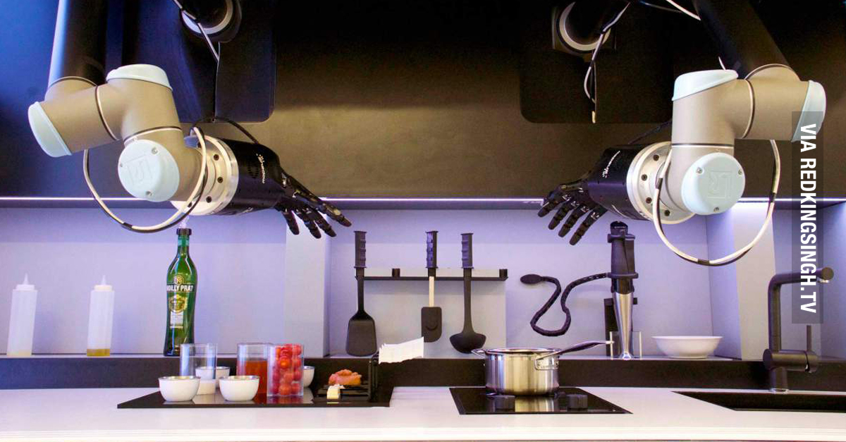 the future of cooking robot chef could be serving you. Black Bedroom Furniture Sets. Home Design Ideas