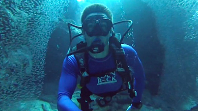 Amazing: Scuba Diver Swims Through Millions Of Silverside Fish In The Cayman Islands