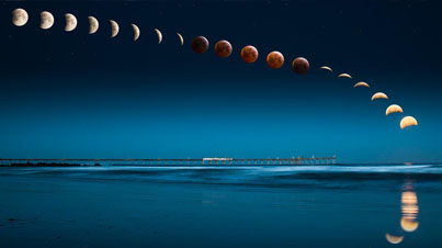 Total Lunar Eclipse And Blood Moon Time-Lapse From April 4th, 2015
