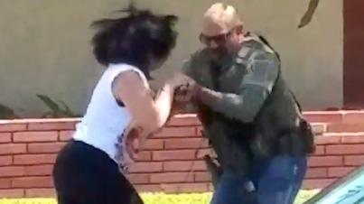 US Marshal Grabs Woman's Cellphone And Smashes It For Recording Him During Biker Gang Bust
