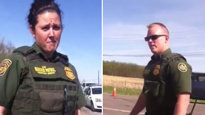Annoying Know-It-All Woman Confronts Border Patrol Then Gets Tasered