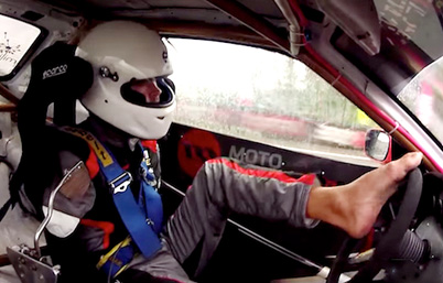 Holy Sh*t: Armless Polish Pro Drifter Uses Just His Feet To Drive Car
