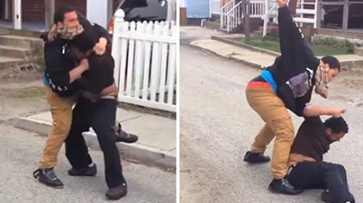 Talk Sh*t, Get Hit: Guy Beats Up Internet Gangster When He Finds Him On The Streets