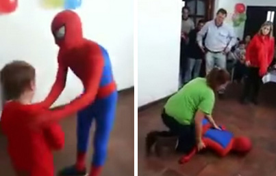 Pretty Embarrassing: Spider-Man Gives Himself Concussion At Kid's Birthday Party
