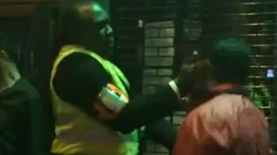 Bouncer Knocks Out Drunk Bully With A Vicious Slap