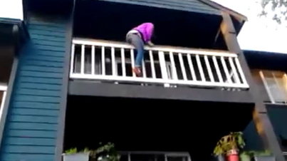 How Not To Climb Down A Balcony