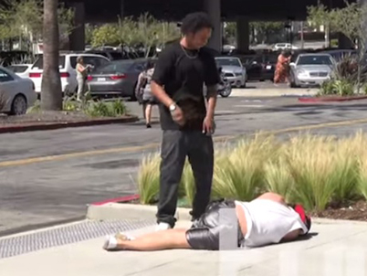 'How To Win A Street Fight In The Hood' Prank Backfires And Dude Gets Knocked Out