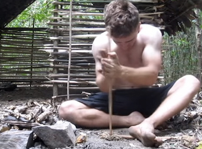 Man Builds A Shelter With Nothing But His Two Bare Hands