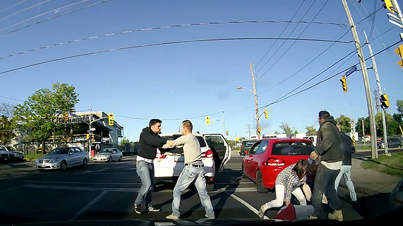 Meanwhile In Toronto: Road Rage Brawl Caught On Dash Cam
