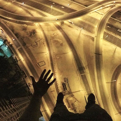 Palm Sweating Footage: Adventurer James Kingston Hangs Out Above The Marina In Dubai